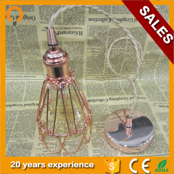 China manufacturer modern bird cage indoor pendant lighting for home decoration