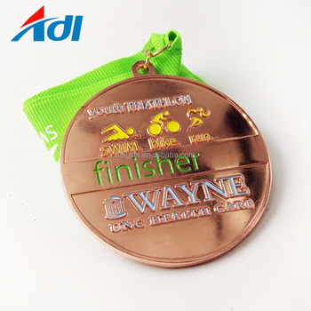 Custom metal high quality Triathlon sports China medals