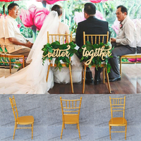 Used Belle gold wedding chair Chic Back wedding Chairs for wedding venues YC-A242