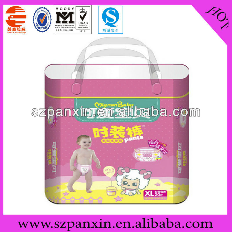 Professional Factory disposable diaper packing plastic roll bags