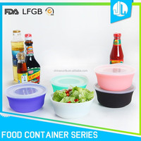 Food container cheap sealing silicone collapsible bowl with lid