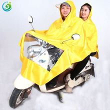 In Stock Cheap Price Olive Green Hooded Polyester PVC Raincoat