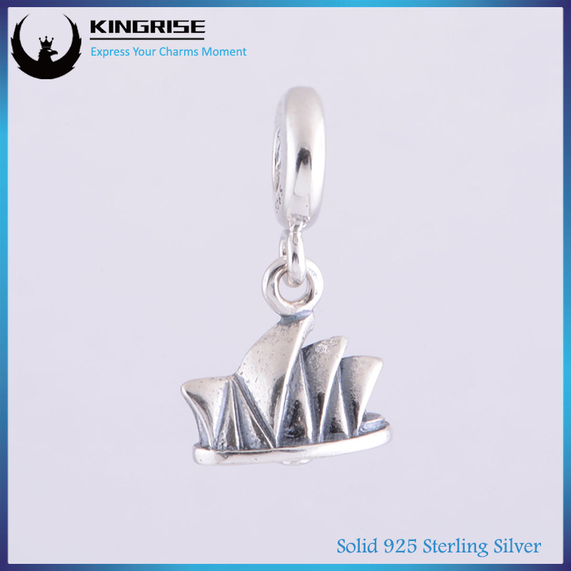 Threaded core 925 sterling silver House series Syndey opera house brand design european silver charm bracelets