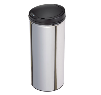 13 gallon 50L round stainless steel infrared sensor trash can