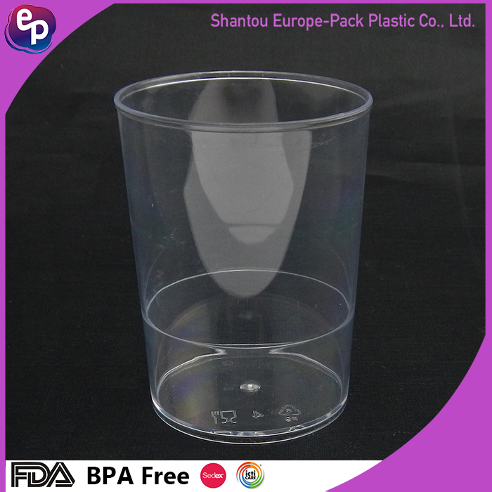 Eco-friendly disposable plastic tumbler drinking clear yogurt cup
