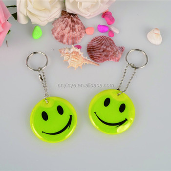 Promotional Reflective Material Pvc Keychain for Children or Souvenir