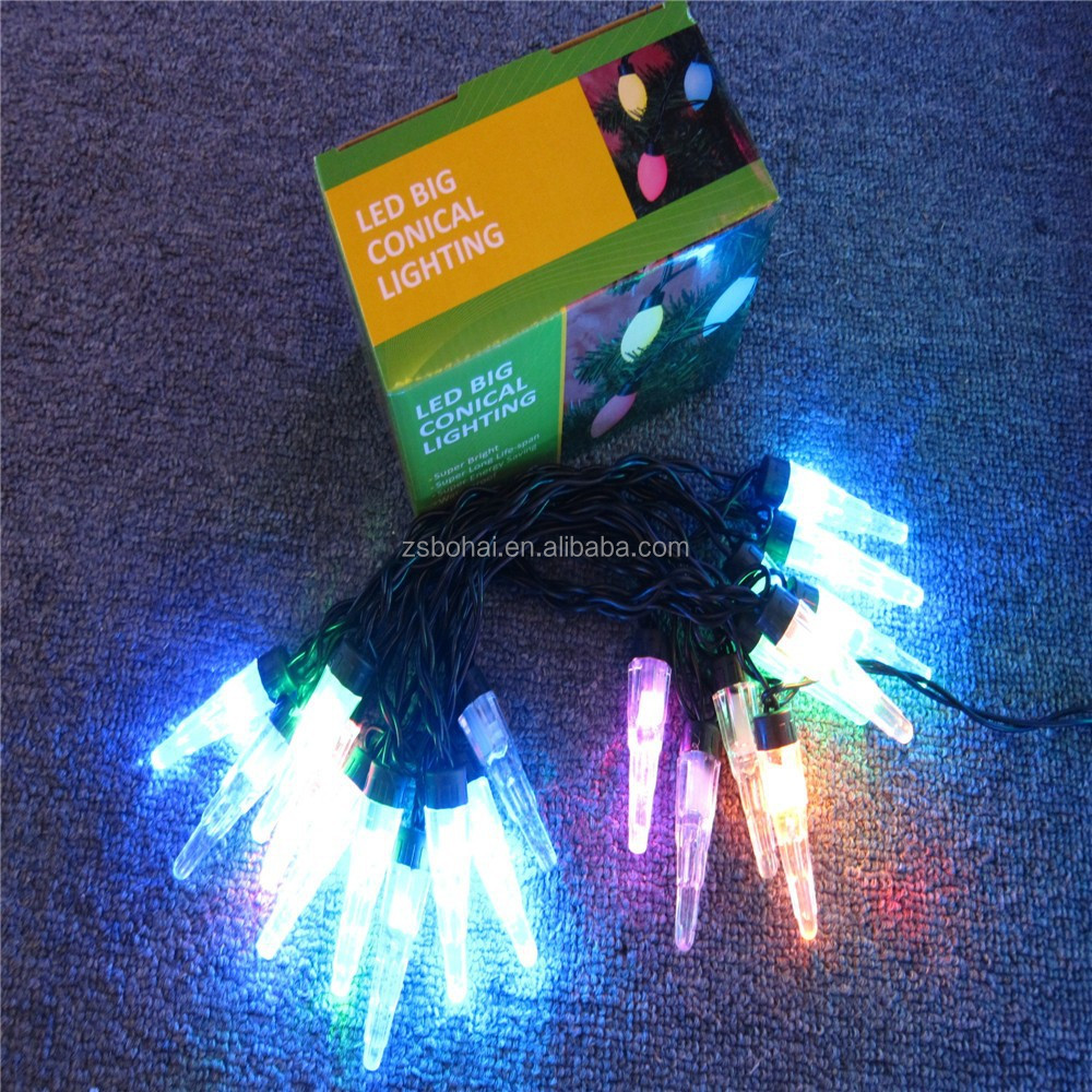 full color led holiday light/led mini icicle lamp string