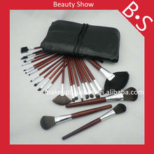 24pcs Makeup high ranking professional brush set,synthetic hair make up brush set,cosmetic accessories with bag