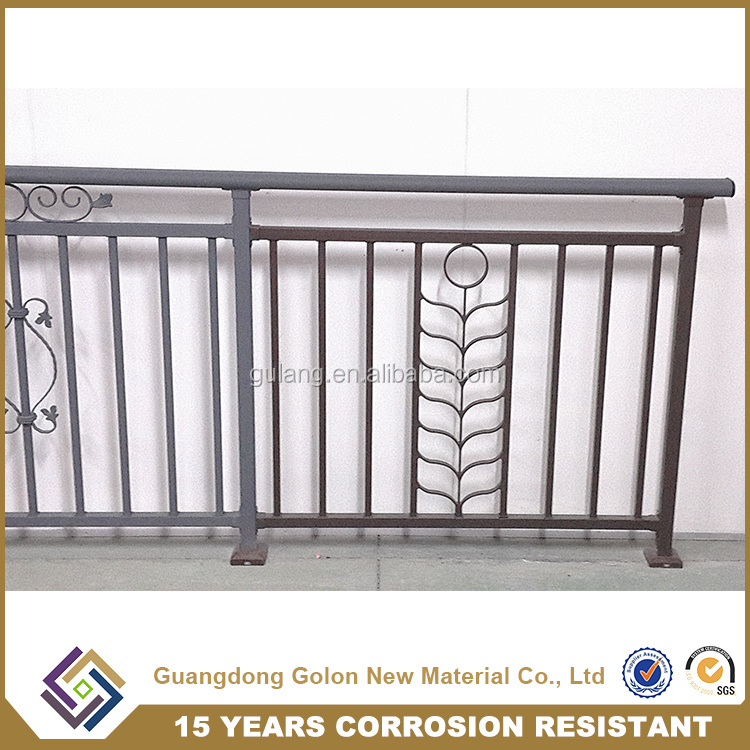 High quality balcony railing iron grill design for for Balcony grill and bar