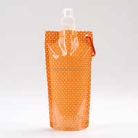 BPA free,FDA food grade/MSDS 500ml foldable water bag,collapsible water bottle 480ml