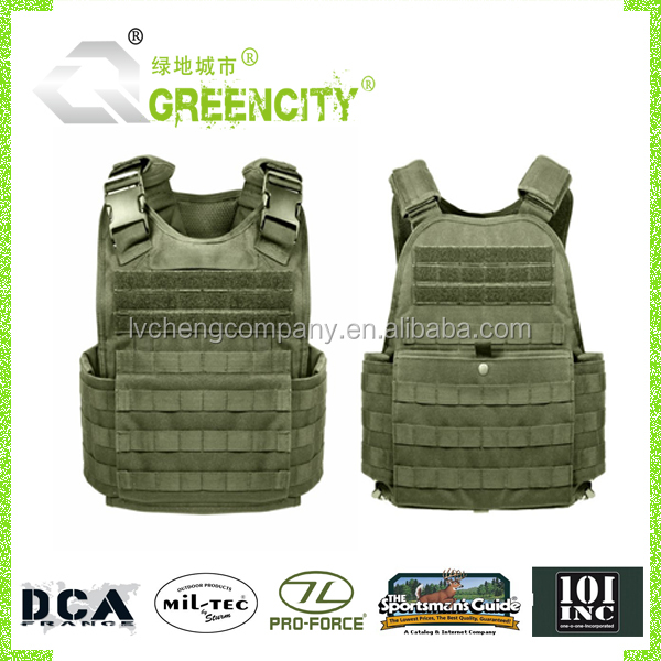 Durable Military Tactical Bullet Proof Plate Carrier Vest