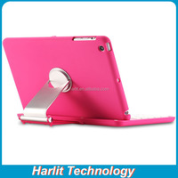Wireless Bluetooth Keyboard With 360 Degree Rotating Cover Case Pink Color For iPad mini 234