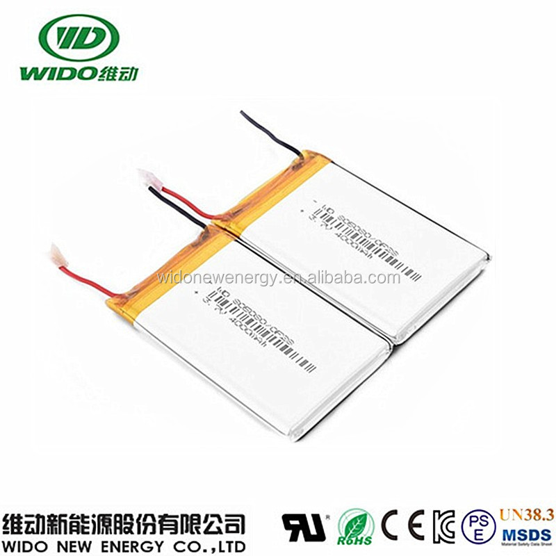 805080 3.7v li-polymer gps tracker battery 4000mAh long lasting