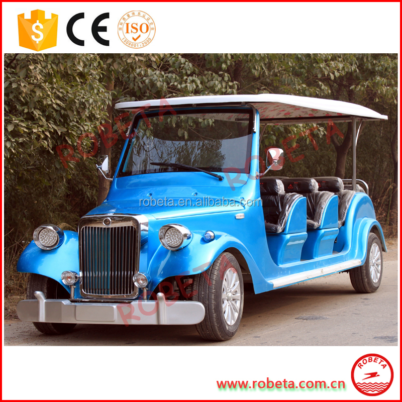 retro/vintage/antique/archaistic sightseeing electric 8 passenger classic car