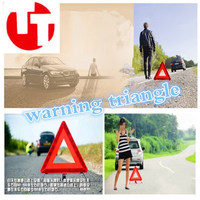 Metal Car Warning Sign Triangle Folding