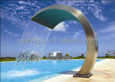Customized Design Stainless Steel water park Swimming Pool Waterfall Features