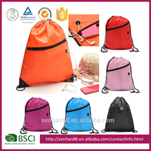 wholesale fabric small mesh waterproof cotton cheap canvas polyester nylon drawstring gym shoe bags