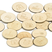 Laser engraved wooden memory <strong>game</strong> for kids