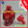 30ml red skull e liquid glass dropper bottles with red childproof cap in large stock