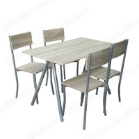 metal wood dining table and chairs