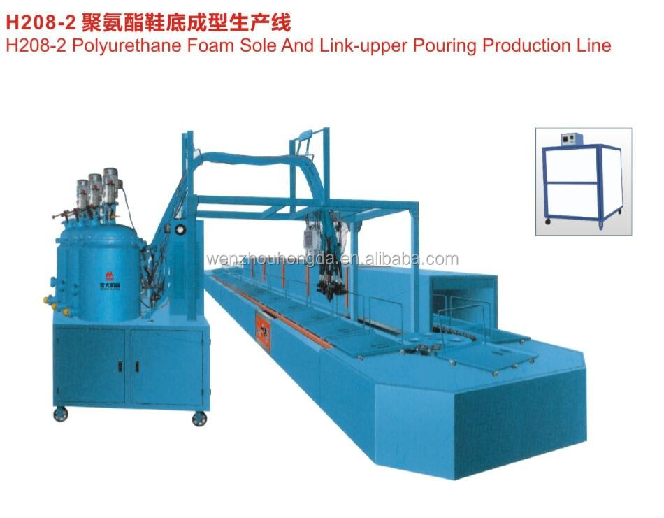 PU sole making machine for leather shoes