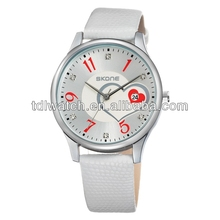 SKONE 9160 White Black Red Elegant African Lady Watches