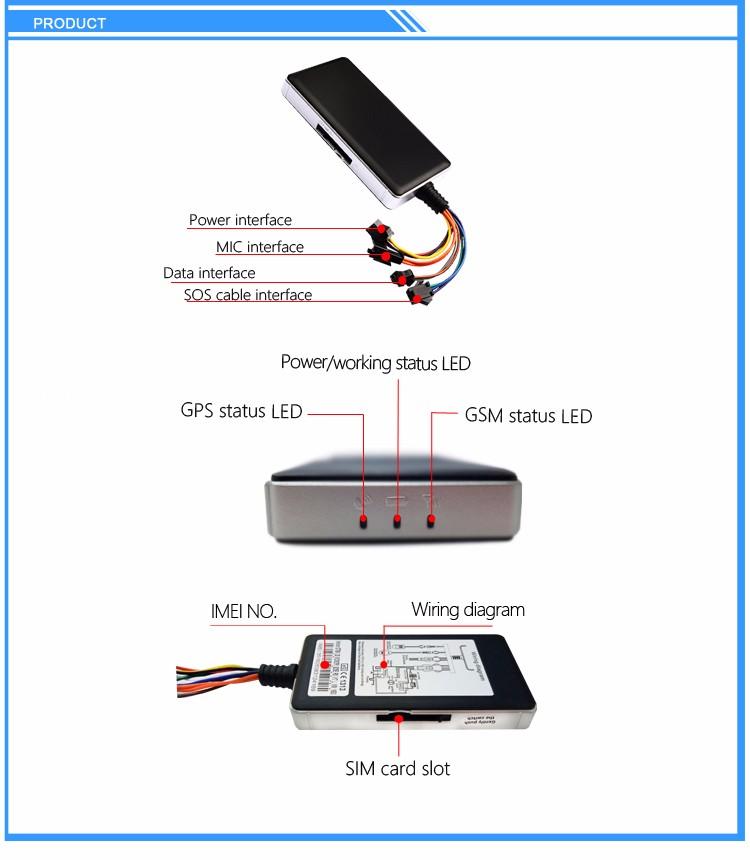 Long distance gps tracker gt06 for gps tracking with fleet management system software