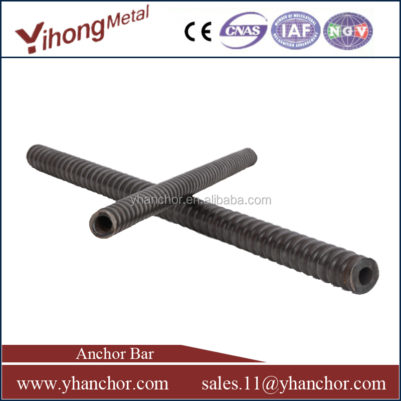 YH R32 steel self drilling hollow rock bolt