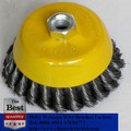 Perfect removing paint 3 inch Knotted Cup Wire Wheel brush