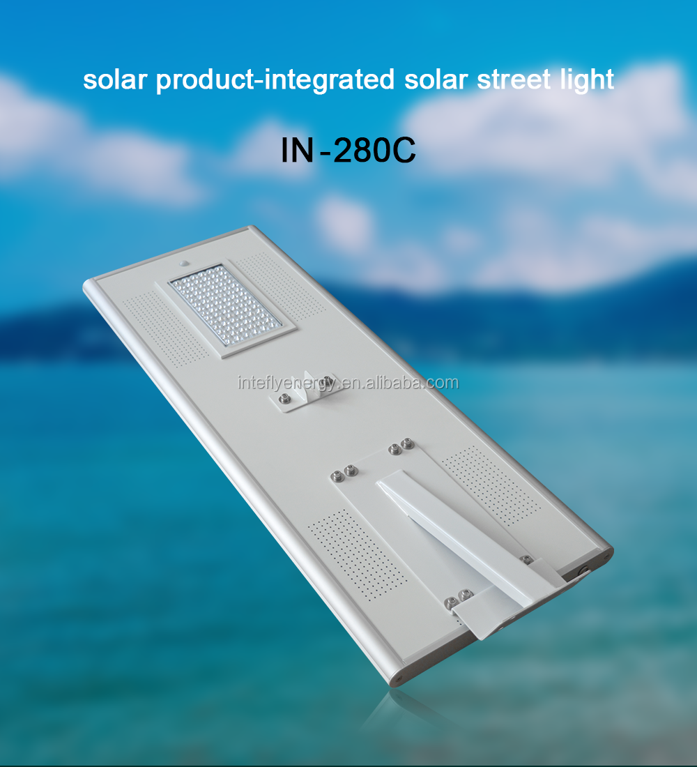 High quality Real Manufacturer 80W LED Solar Street Light with all in one design