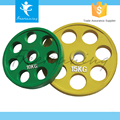 Crossfit Training Solid Rubber Coated 9 Holes Barbell Bumper Plate