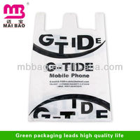waistcoat packaging waterproof plastic shopping bags for sale