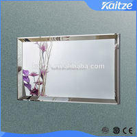 Modern large frame bathroom mirrors for hotel projects, stainless steel mirrors for USA