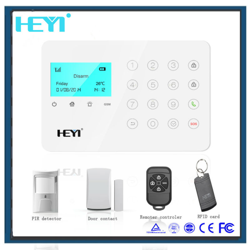 2015 touch keypad gsm/gprs camera mms alarm system made in China