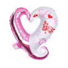 Excellent quality pretty hook hook heart colorful drawing pattern graphic balloon for wedding gift