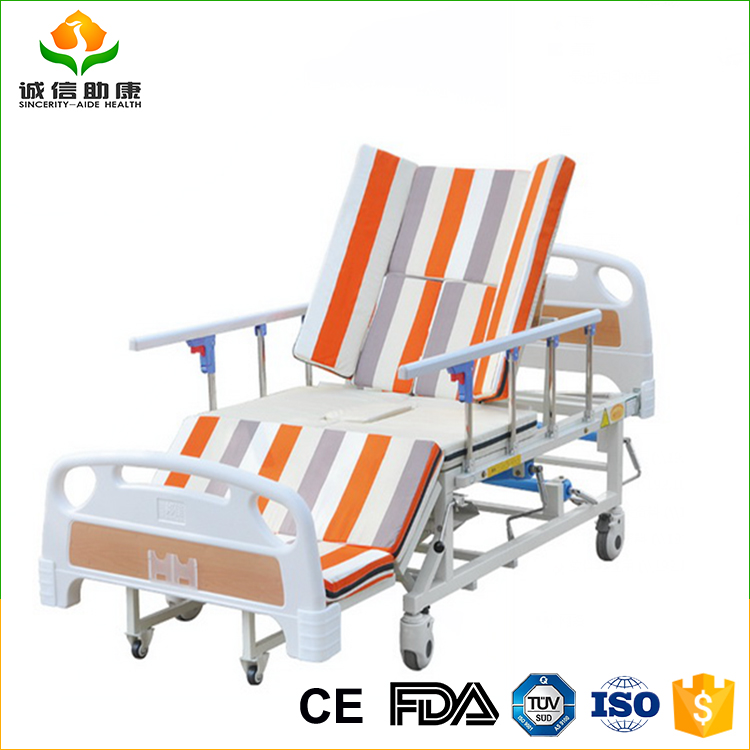 Strong thick tube welded surface and cold plate stamping molding free used hospital medical bed