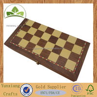 wooden chess game set, wooden backgammon board