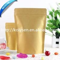 Zipper Pouch Heat Seal Kraft Paper Bags