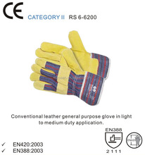 RS SAFETY Canadian rigger gloves in pig split Leather working glove