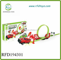 Track racer racing car toy set pull back railway car