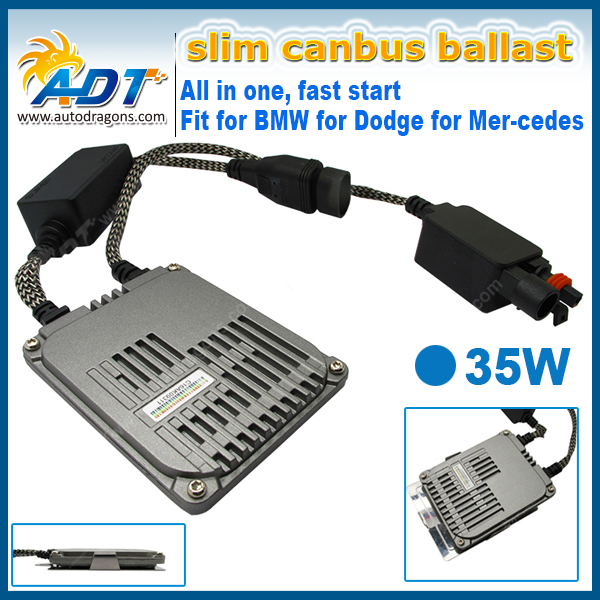ADT Wholesale Fast start lighting up 12V H7 HID Xenon Ballast DC Slim 35W Digital Blocks Ignition Electronic Ballasts for Cars