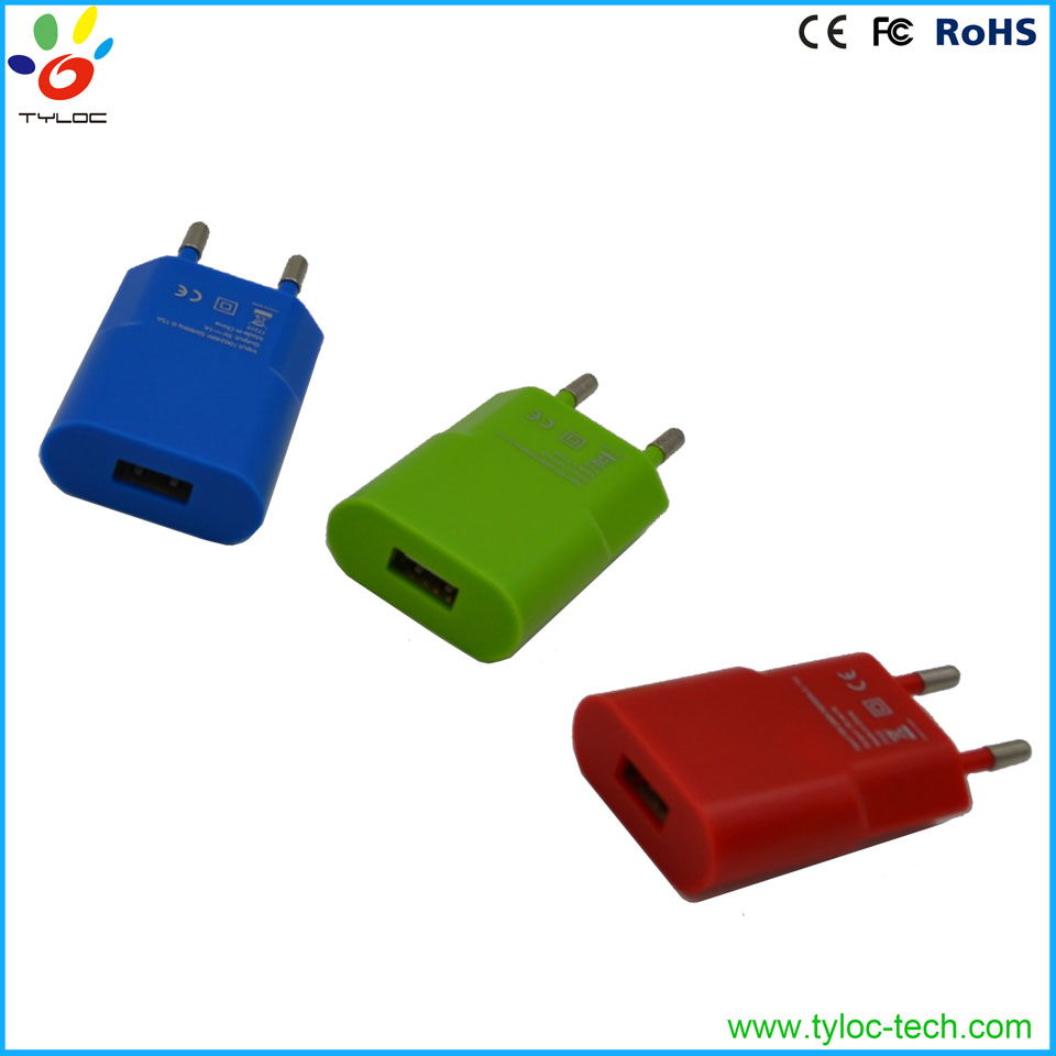Top selling small usb wall charger travel universal power adapter
