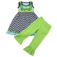 2015 0-12 years children Wholesale Clothes Childrens Boutique Bib Top Summer Outfit