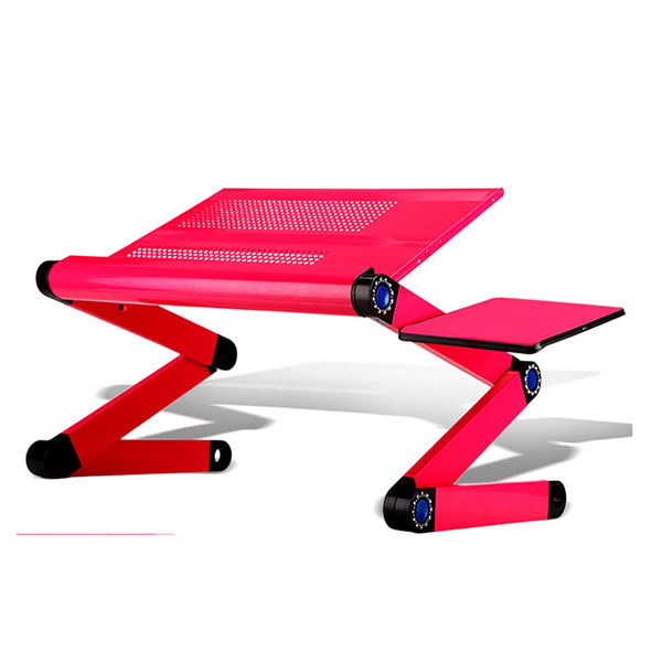 portable folding aluminum laptop table