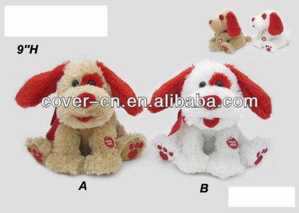 2014 hot selling plush animal, lovely plush dancing toy for Valentine's gifts