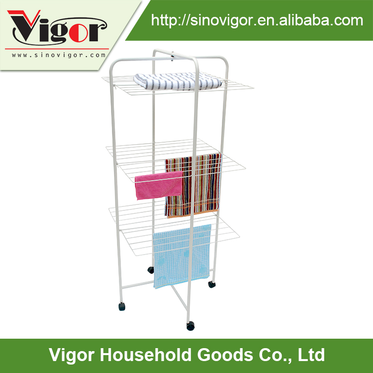 3 tier drying rack powder coating Steel Towel Rack