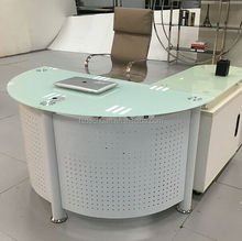 Curved semi circle/half round office desk
