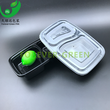 Disposable food packaging plastic microwaveable bento box