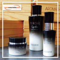 TORCHE luxury Skin care body lotion high quality cosmetic 30ml 40ml 60ml 120ml OPAL GLASS Bottle and Jar