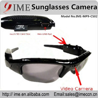 Hot selling Video Camera Sunglasses Audio Recorder 30fps HD 720P Glass Camera support 4gb/8gb/16gb/32gb micro SD/TF card
